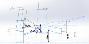 Rear Suspension 2D Sketch