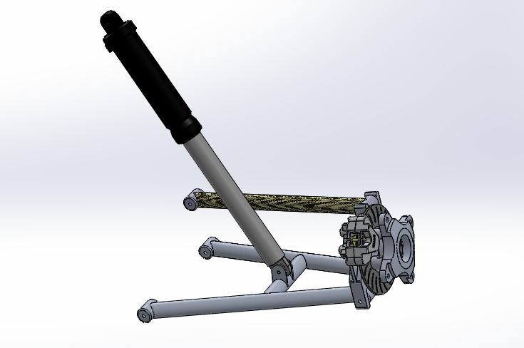 Updated Rear Suspension Geometry and Model | TCNJ Baja SAE